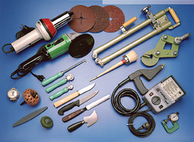 Service ελαστικών ταινιών, εργαλεία, υλικά συγκόλλησης, επενδύσεις τυμπάνων κεραμικές και απλές.